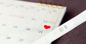 カレンダーと検査薬